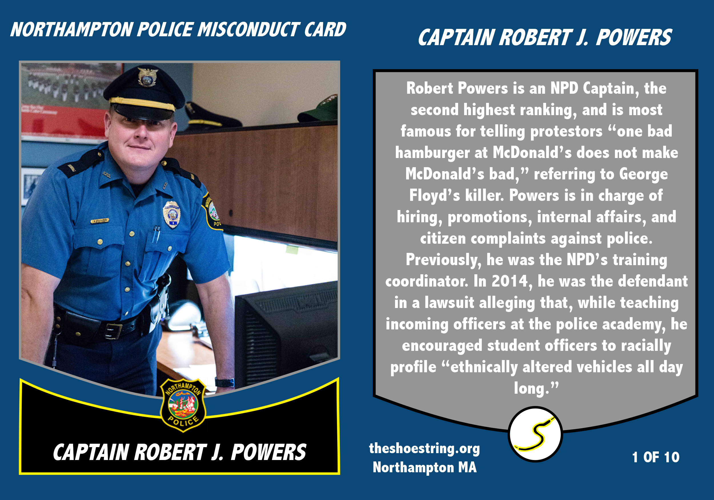 Npd Misconduct Trading Cards 1 Robert Powers The Shoestring